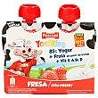Yogikids fresa pouch Pack 2 x 80 g Pascual