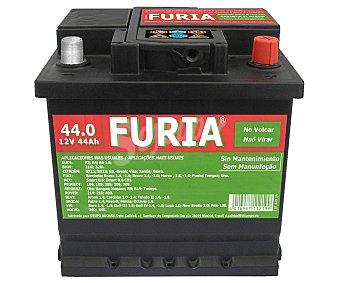 Furia Batería de Automóvil de 12v y 44 Ah, Potencia de Arranque: 440 Amperios 1 Unidad