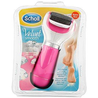 Scholl Velvet smooth lima electrónica rosa con cristales de diamante 1 u