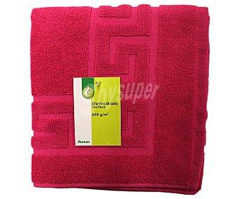 Auchan Alfombra de baño rizo 100% algodón, 650 gramos/m², color rosa fucsia, 50x70 centímetros 1 Unidad