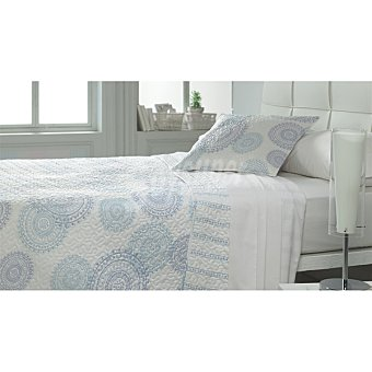 CASACTUAL SH-300-3130 Colcha bouti círculos azules para cama 90 cm