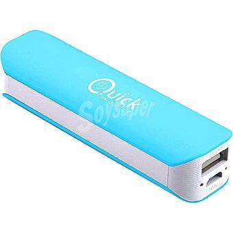 QUICK MEDIA PB14 Batería Externa con microusb y conector Lightning en color azul