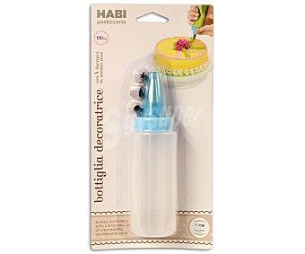 HABI Botella dosificadora para decoración más 4 boquillas de acero inoxidable 1 unidad