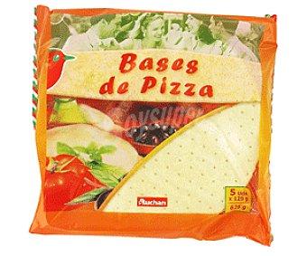 Auchan Base de Pizza Pack 5 Unidades de 125 Gramos