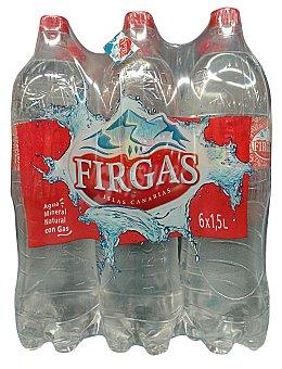 Firgas Agua con gas Pack 6 x 1500 cc - 9 l