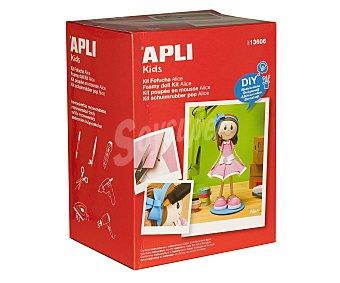 APLI Kit para hacer tu propia fofucha Alice con vestido rosa, diy, hazlo tu mismo 1 unidad
