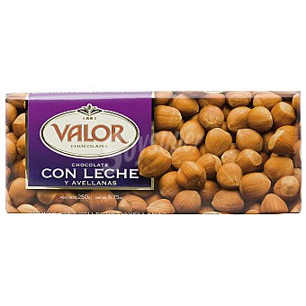 Valor Chocolate con leche-avellanas Tableta 250 g