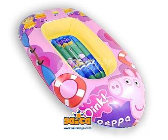 SAYCA TOYS Barca hinchable infantil, con diseños de los personajes de Peppa Pig o Hello Kitty, medidas: 120x65 centímetros 1 unidad