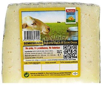 Auchan Producción Controlada Queso de oveja semicurado 250 gr