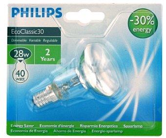 Philips Foco halógeno Ecoclassic reflector NR50 28W E14 1 Unidad
