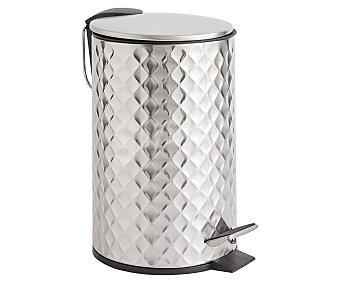 Actuel Papelera acero mate redonda de 3L ideal para baño, medidas: 16,8x23,5 cm, actuel. 3l