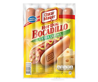 Oscar Mayer Salchicha hot dog extra queso Paquete de 275 g
