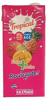 Hacendado Frutas+leche tropical (brick rosa) Brick 1 l