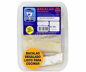 Alkorta Bacalao desalado rebozado en palitos Bandeja de 300 gramos