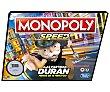 Juego de mesa de estrategia y rapidez de 2 a 4 jugadores, hasbro Speed  Monopoly