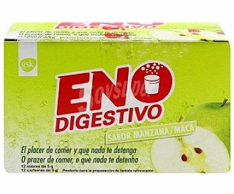 ENO Digestivo sabor manzana 12 Sobres 70 Gramos