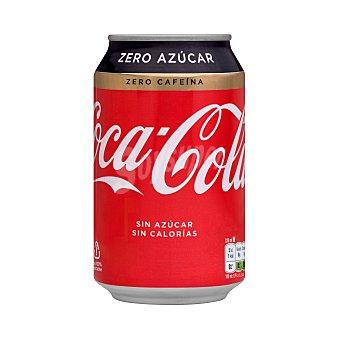 Coca-Cola Zero Refresco de cola sin cafeína Lata 33 cl