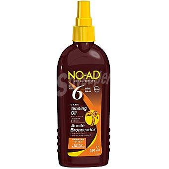 No-ad Aceite bronceador con aceite de coco crema de cacao y vitamina E FP-6 estilo Hawaiano Spray 250 ml