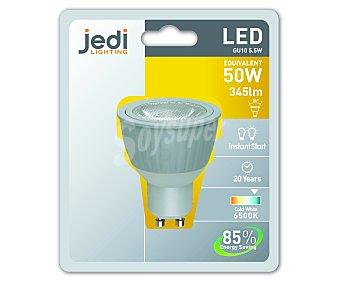 JEDI Foco led dicroico 5.5 Watios, casquillo GU10, luz fría 1 unidad