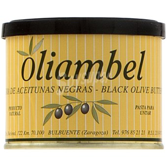 OLIAMBEL Paté crema de aceitunas negras Lata 200 g neto escurrido