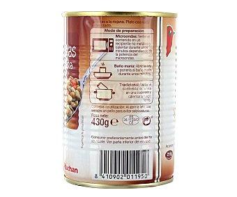 Auchan Lentejas a la riojana 430 gramos