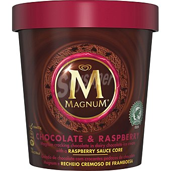 Magnum Helado de chocolate con frambuesa Tarrina 450 ml
