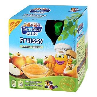 Carrefour Kids Compota de manzana Pack de 6x90 g
