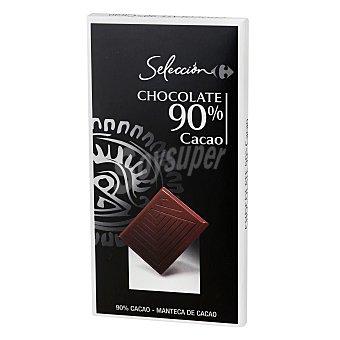 Carrefour Selección Chocolate negro 90% Carrefour Selección 80 g
