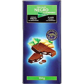 El Corte Inglés Chocolate negro con almendras Tableta 150 g
