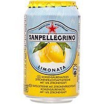 San Pellegrino Agua con gas sabor limón Lata 33 cl