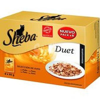 Sheba Mpack Duet de aves Pack 8x85 g
