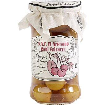 EL ARTESANO Cerezas del bierzo en aguardiente calidad extra Frasco 180 g neto escurrido