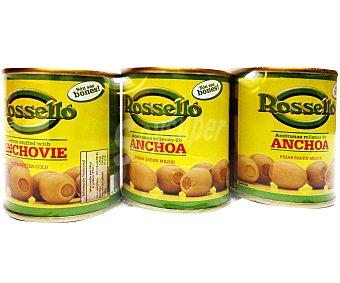 Roselló Aceitunas Rellenas de Anchoa Pack de 3 Unidades de 40 Gramos