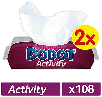 Dodot Toallitas activity Pack 2 envases x 54 u - 108 u