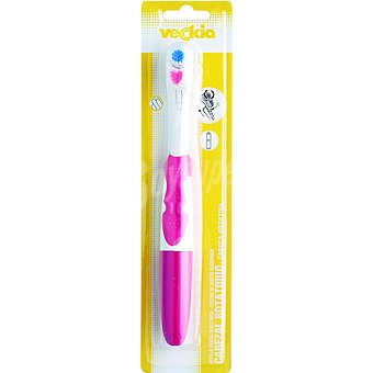 Veckia Cepillo dental eléctrico cabezal rotatorio blister colores surtidos 1 unidad