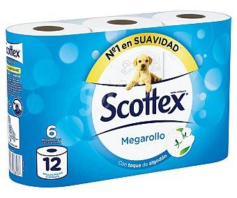 SCOTTEX MEGAROLLO Papel higiénico 6 Unidades