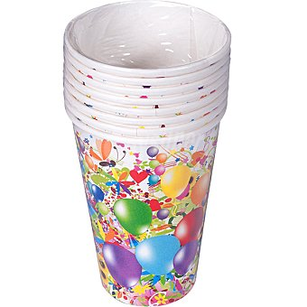 ONEUSE Vaso cartón diseño infantil  paquete 8 unidades