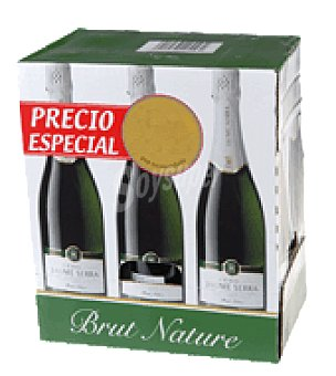 Jaume Serra Cava brut nature Pack de 6x750 ml