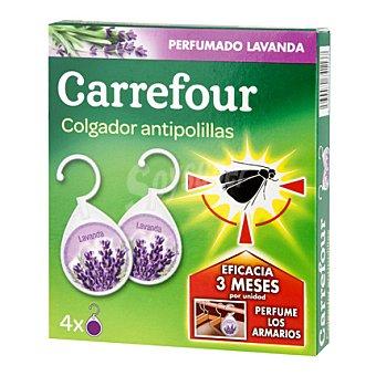 Carrefour Colgador antipolillas perfumado lavanda 4 ud