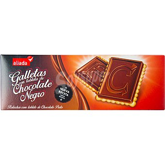 Aliada Galletas con tableta de chocolate negro Estuche 150 g