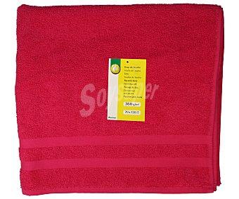 Productos Económicos Alcampo Toalla de ducha 100% algodón color rosa fucsia, densidad de 360 gramos/m², 70x130 centímetros 1 unidad