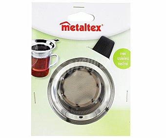 METALTEX Filtro de acero inoxidable para infusiones, adaptable a vasos de 6 a 8,5 centímetros 1 Unidad