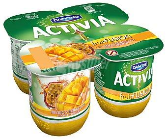 Activia Danone Yogur con bífidus mango y maracuyá 4x125g