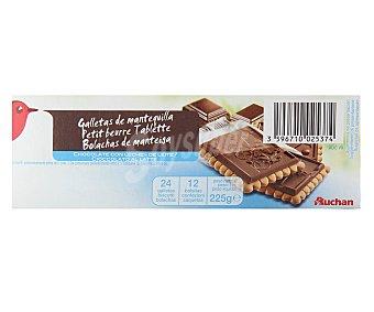 Auchan Galletas de mantequilla con tableta de chocolate con leche 225 gr