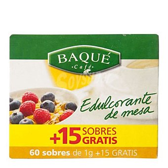 Café Baqué Edulcorante Caja de 60 Sobres