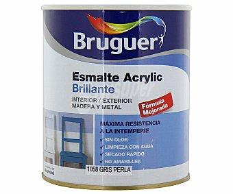 Bruguer Esmalte decorativo acrílico, de color gris perla y acabado brillante 0,75 litros