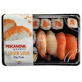 Pescanova Suisen sushi  Bandeja 225 g ( 12 unidades )