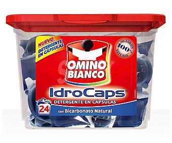 OMINO BIANCO Detergente Máquinas Bicarbonato 24 cápsulas