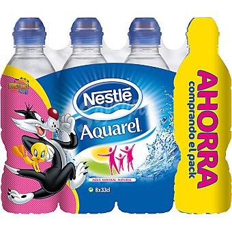 Aquarel Nestlé Agua mineral de manantial con tapón Sport Pack 8 botella 33 cl