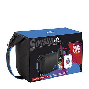Adidas Estuche colonia TEAM FIVE spray 100 ml. + desodorante 150 ml. + neceser 1 ud
